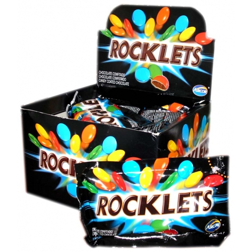 Arcor Rocklet Candy Coated Chocolate 18x40g
