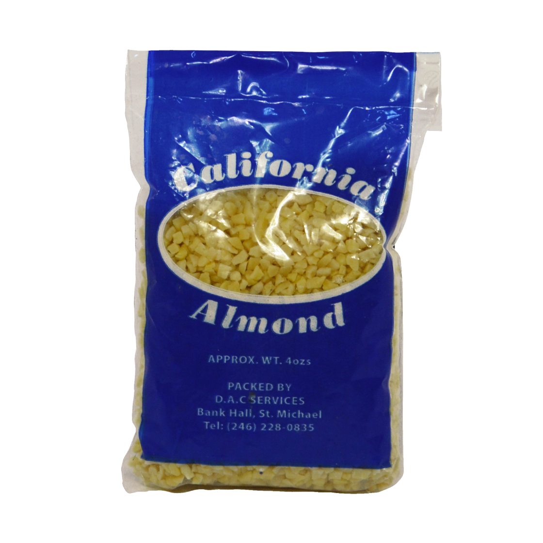 Blanched Nibbed Almond 4oz