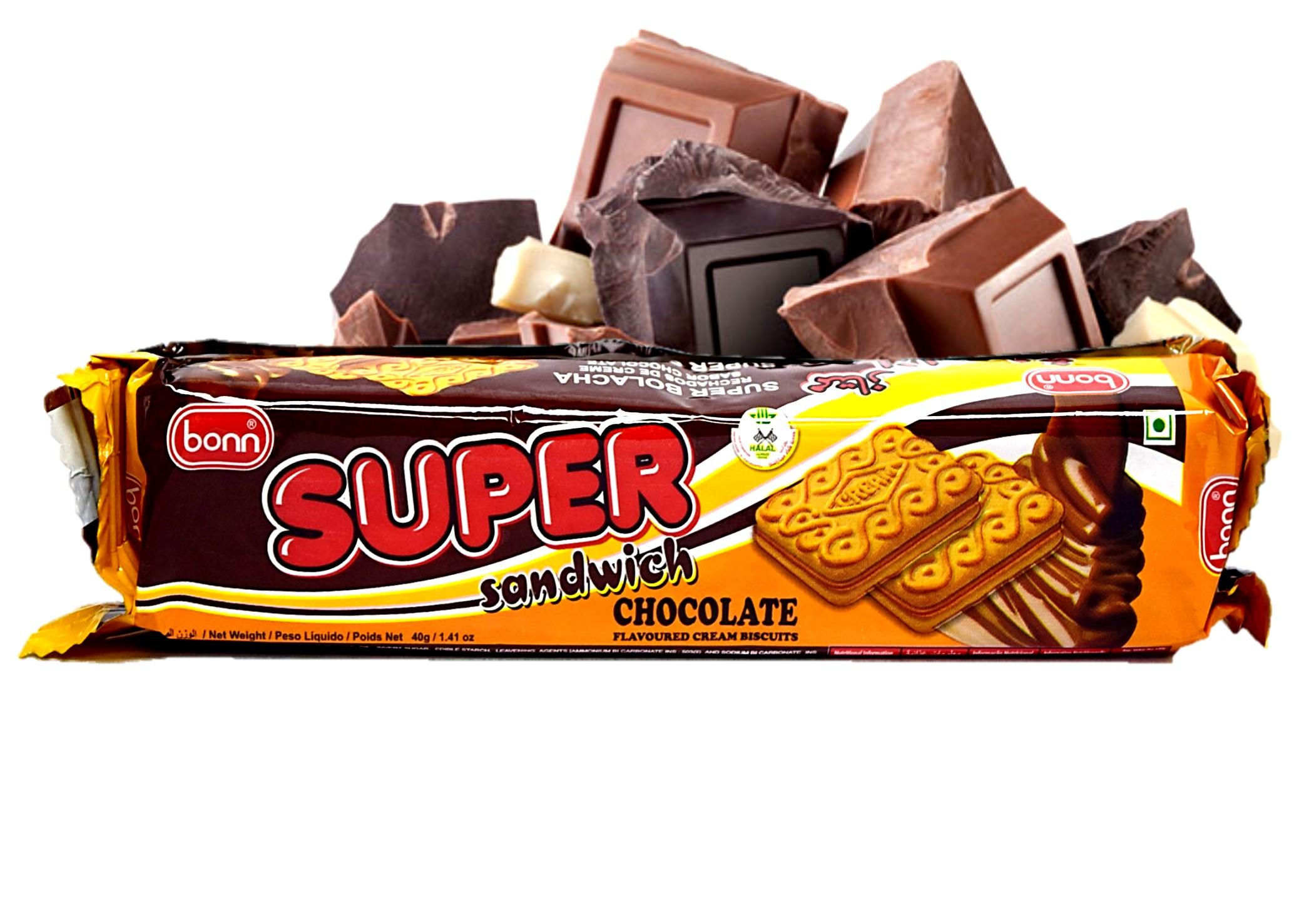 Bonn Super Sandwich Biscuits Chocolate 48x40g