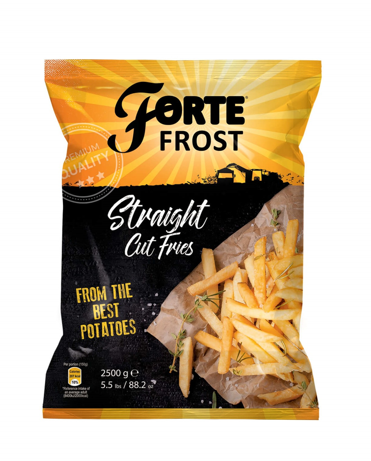 Straight Cut Fries 2.5 kg