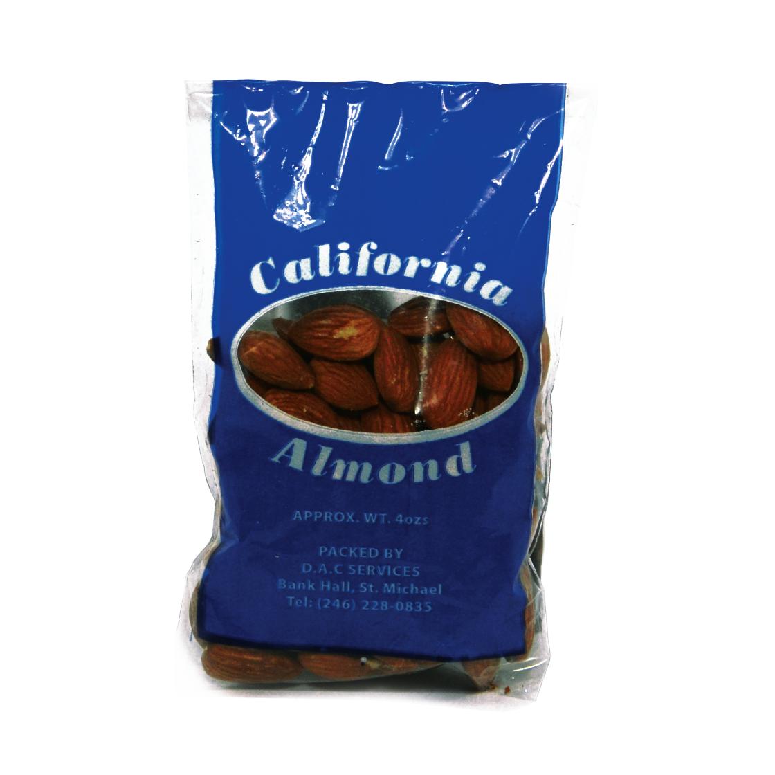 Natural Whole Almond 4oz