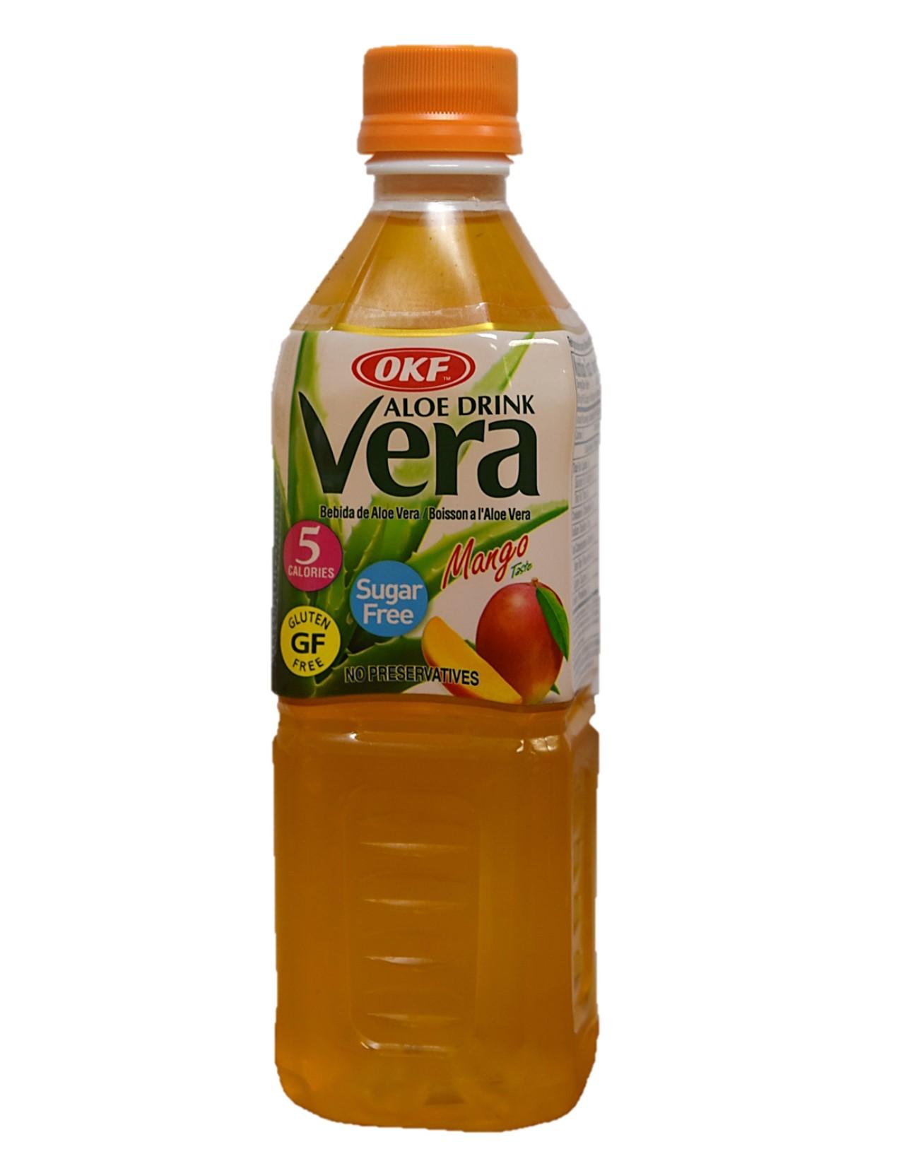 OKF Aloe Vera Mango - Sugar Free 500ml