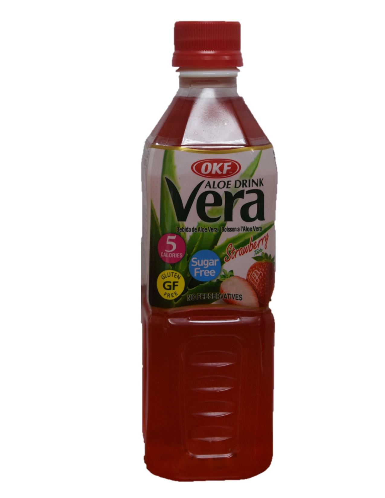 OKF Aloe Vera Strawberry - Sugar Free 500ml