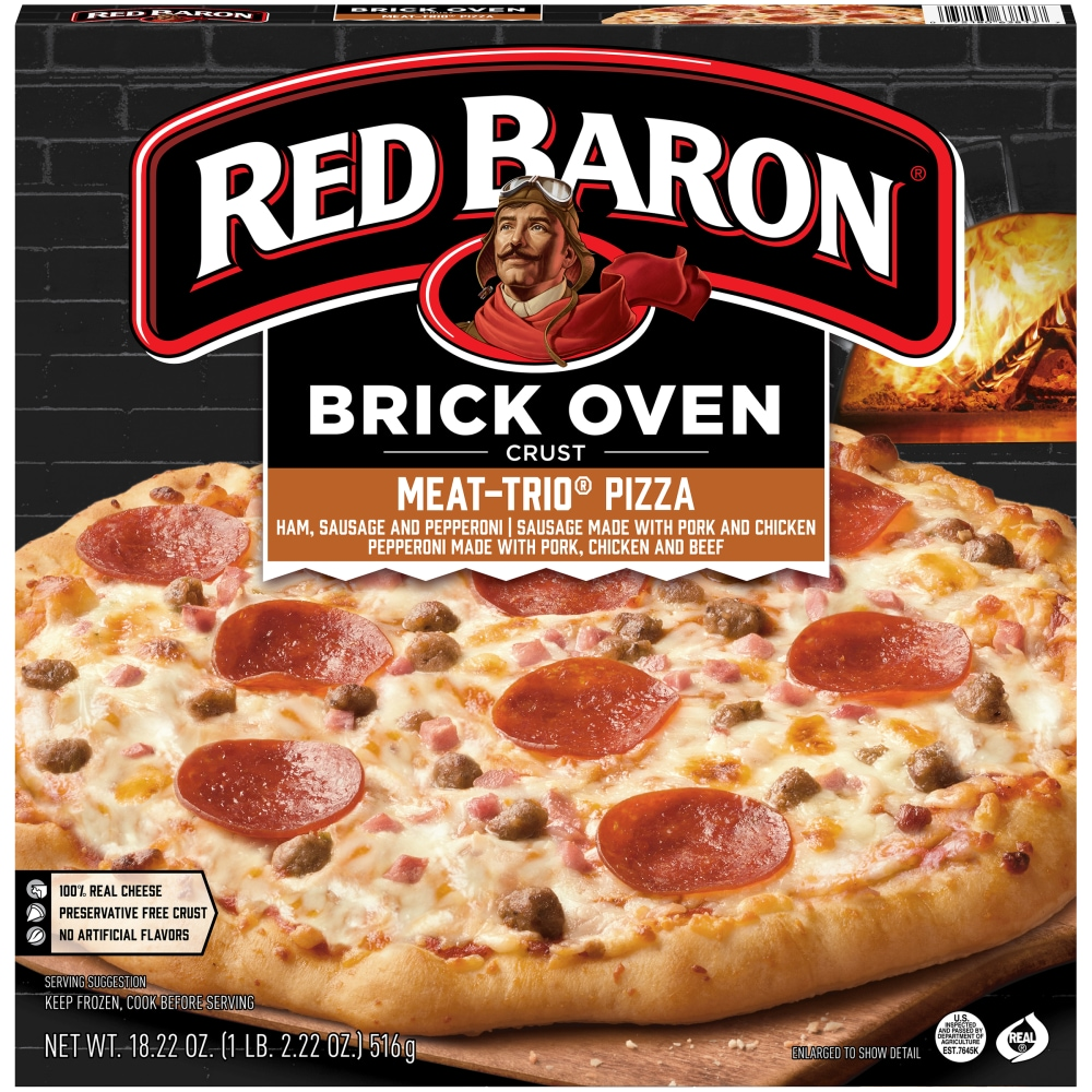 Brick Oven Three Meats Pizza 18.22oz