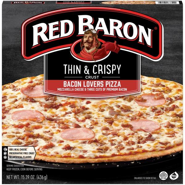 Thin & Crispy Bacon Lovers Pizza 15.39oz