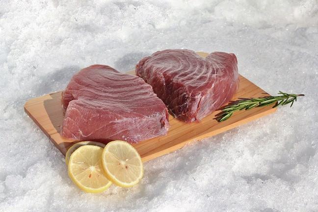 """1/2"""" Tuna Steaks 2lb"""