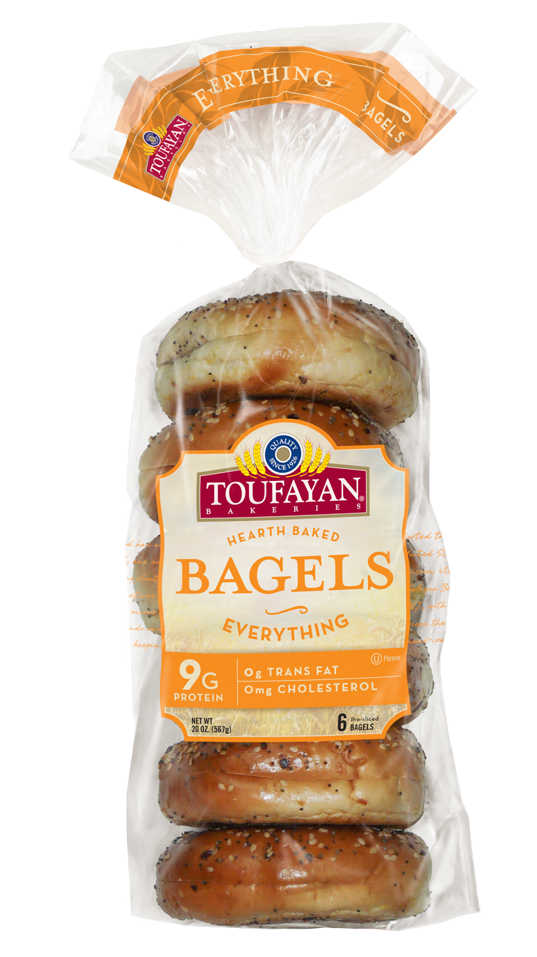 Toufayan Bagel w/Everything Pre-Cut