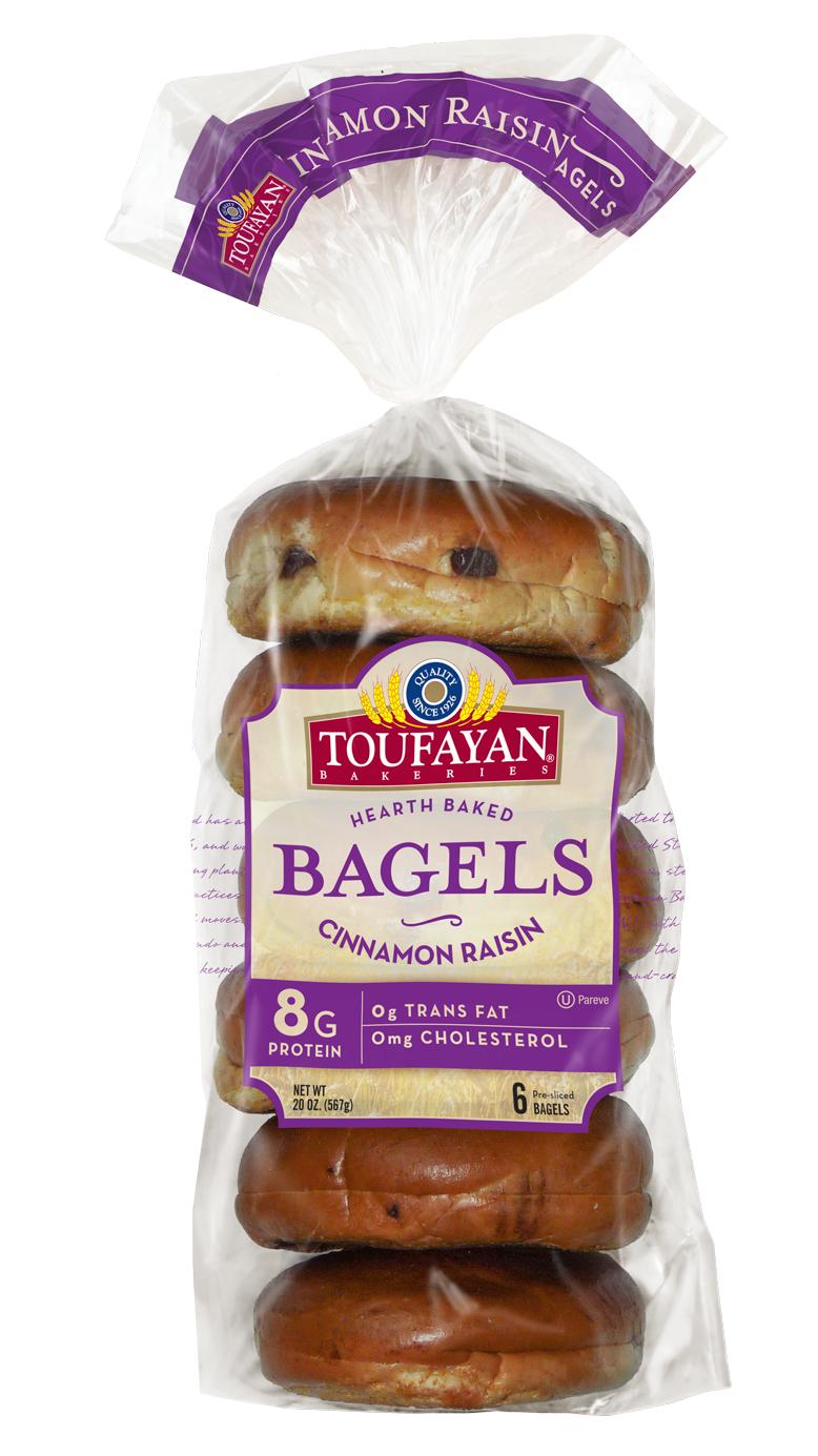 Toufayan Bagel Cinnamon/Raisins Pre-Cut