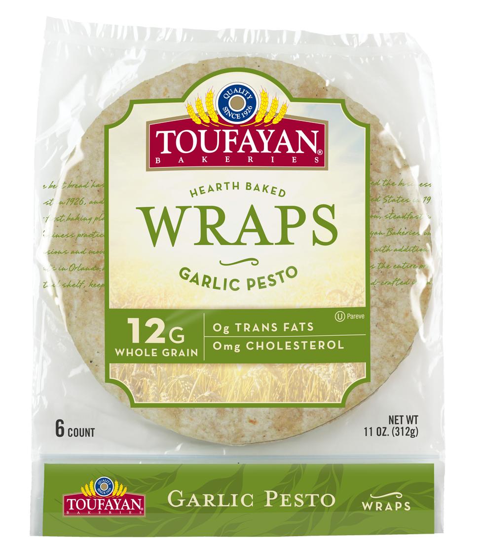 """Toufayan Garlic Wrap 9"""""""