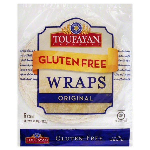 "Toufayan Plain Gluten Free Wrap 9"""