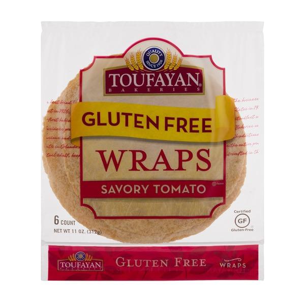 """Toufayan Tomato Gluten Free Wrap 9"""""""