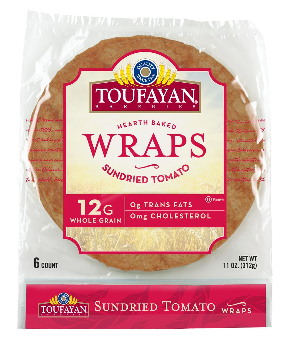 """Toufayan Tomato Wrap 9"""""""
